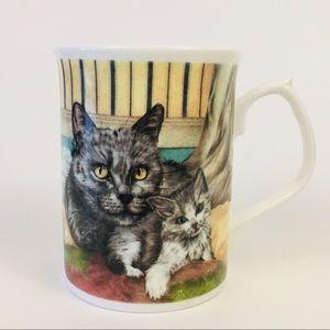 🌟Duchess bone china cat and kitten coffee tea cup